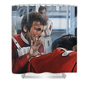 The Agony Of Loss Shower Curtain by Kim Lockman
