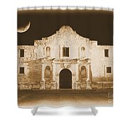 The Alamo Greeting Card Shower Curtain