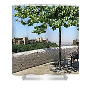 The Alhambra From Sacromonte Shower Curtain