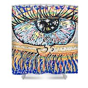 The All Seeing All Colourfull.... Shower Curtain