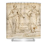 The Allegorical Figures Of Reason And Wisdom  Shower Curtain