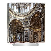 The Altar And Dome In St Peter's Basilica Shower Curtain