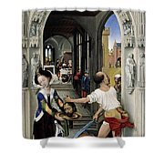 The Altar Of St. John, Right Panel Shower Curtain