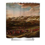 The Ambassadorial Procession Shower Curtain