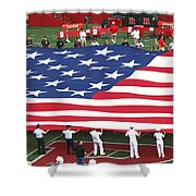 The American Flag Shower Curtain by Allen Beatty