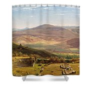 The Amphitheatre Of Tusculum And Albano Mountains. Rome Shower Curtain