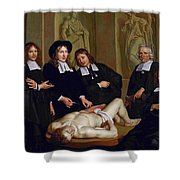 The Anatomical Lesson Of Professor Frederik Ruysc Shower Curtain