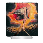 The Ancient Of Days Shower Curtain