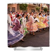 The Andalusian Fair, A Party In The Streets Shower Curtain