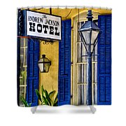 The Andrew Jackson Hotel - New Orleans Shower Curtain