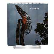 The Angel At Christmas Shower Curtain