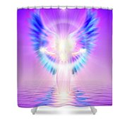 The Angel Of Divine Protection Shower Curtain