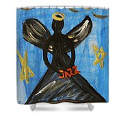 The Angel Of Jazz Shower Curtain
