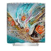 The Angel Wings #10. The Five Roses Shower Curtain