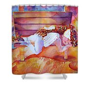 The Angel's Nap Shower Curtain