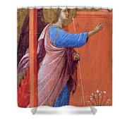 The Annunciation Fragment 1311 Shower Curtain