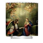 The Annunciation Shower Curtain