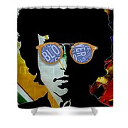 The Answer Is Blowin' In The Wind. Bob Dylan Shower Curtain