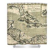 The Antilles And The Gulf Of Mexico Shower Curtain by Guillaume Raynal