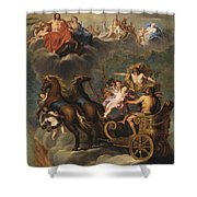 The Apotheosis Of Hercules Shower Curtain