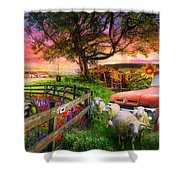 The Appalachian Farm Life In Beautiful Morning Light Shower Curtain