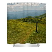 The Appalachian Trail Crossing Max Patch Shower Curtain