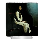 The Apple  Shower Curtain