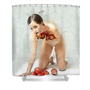 The Apples Keeper Shower Curtain