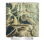 The Aquatic Abstraction Shower Curtain