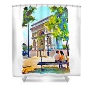 The Arc De Triomphe Paris Shower Curtain