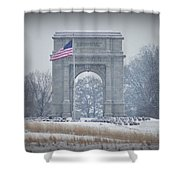 The Arch At Valley Forge Shower Curtain