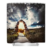 The Arch On The Edge Of Forever Shower Curtain