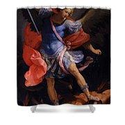 The Archangel Michael Defeating Satan 1635 Shower Curtain