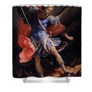The Archangel Michael Defeating Satan Shower Curtain