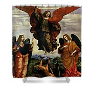 The Archangels Triumphing Over Lucifer Shower Curtain