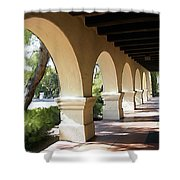 The Arches Mission Santa Ines Shower Curtain