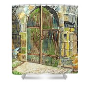 The Archways Of Bandouille 12th Century Monastery Sevres France Shower Curtain