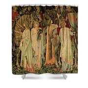 The Arming And Departure Of The Kniights 1894 Shower Curtain