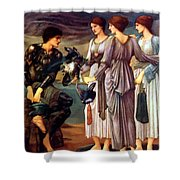 The Arming Of Perseus 1885 Shower Curtain