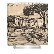 The Arno In The Evening, Florence Shower Curtain