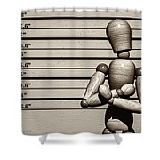 The Arrest  Shower Curtain by Bob Orsillo