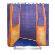 The Arrival Shower Curtain by Judy Henninger