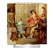 The Arrival Of D'artagnan Shower Curtain