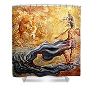 The Arrival Of The Goddess Of Consciousness Shower Curtain
