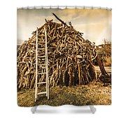 The Art Of Bonfires Shower Curtain