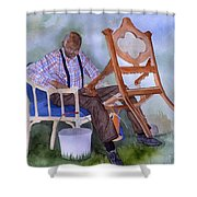 The Art Of Caning Shower Curtain