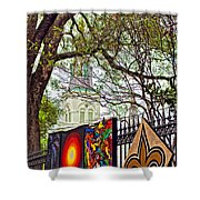 The Art Of Jackson Square Shower Curtain