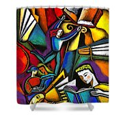The Art Of Learning Shower Curtain