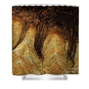 The Art Of Sand Shower Curtain