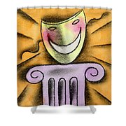 The Art Of Smiling Shower Curtain
